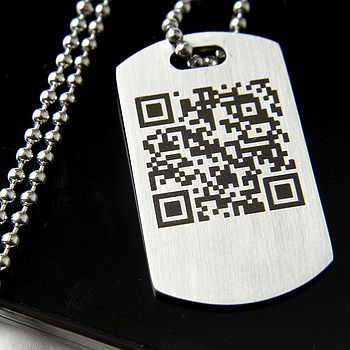 Personalised Secret Message QR Code Necklace