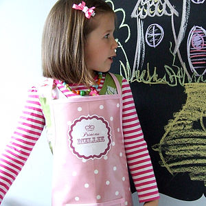 Personalised 'Princess' Oilcloth Apron - little cooks
