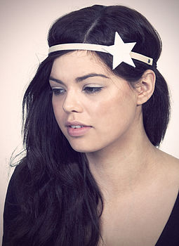 Leather Star Headband