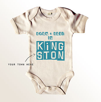 'Born And Bred' Baby Grow