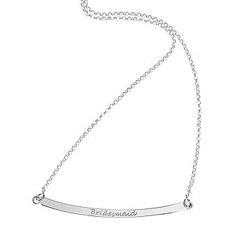 'Bridesmaid' Sterling Silver Necklace