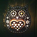 Retro Hanging Owl Tealight Holder