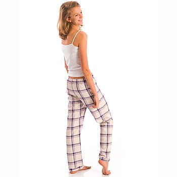 Girls Brushed Cotton PJ Bottoms 11-14yrs