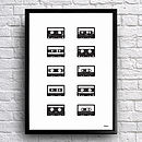 Personalised Mix Tape Cassettes Print