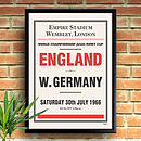 Personalised Sporting Event Print