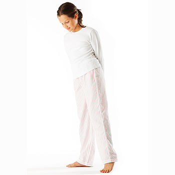 Girls Pink & White PJ Bottoms 11-14yrs