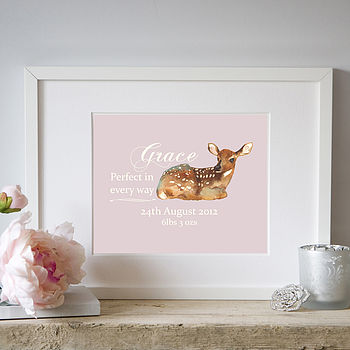Personalised New Baby Announcement Print