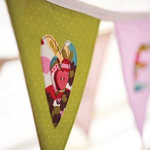 Love Heart Handmade Personalised Bunting - children's parties
