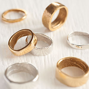 Yellow Gold Bespoke Fingerprint Ring - rings
