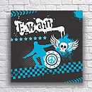 Personalised Skater Teens Canvas - Blue