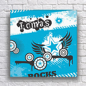 Personalised Stars Teens Canvas