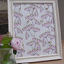 Jewellery display frame - funky flower stems design
