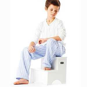 Boy's Striped Pyjama Bottoms: 11-14yrs
