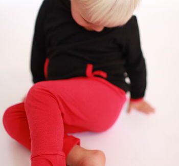 Raspberry Pink Organic Cotton and Modal® Leggings