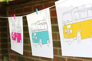 Campervan Illustration Print