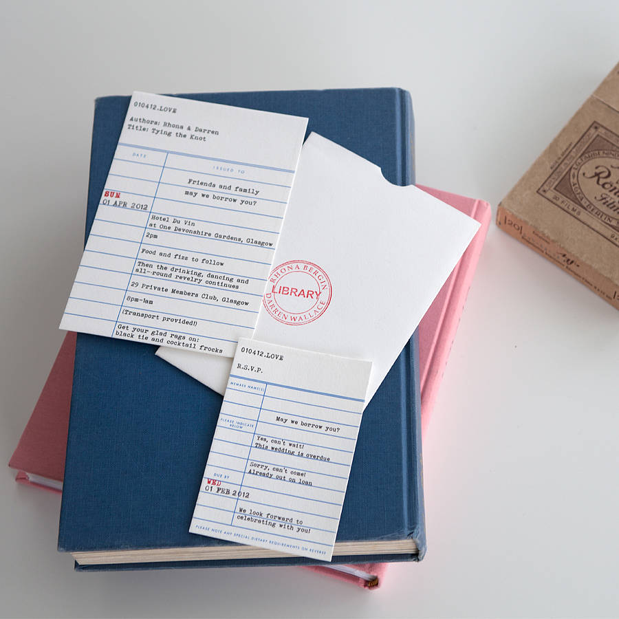 library ticket stationery collection by e y i love