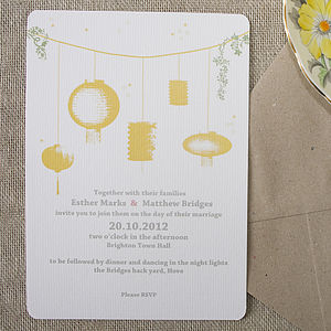 Night Light Wedding Stationery