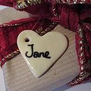 Porcelain Gift Labels And Decorations