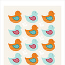 Swimming Ducks orange/blue