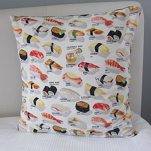 Sushi Pieces Cushion Cover - cushions