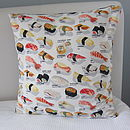 Sushi Pieces Cushion Cover