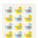 Swimming Ducks yellow/blue