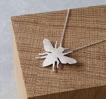 Handmade Silver Honey Bee Pendant