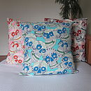 Paisley Skulls Cushion Cover