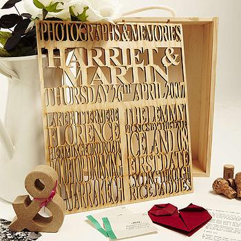 Personalised Couples Keepsake Box