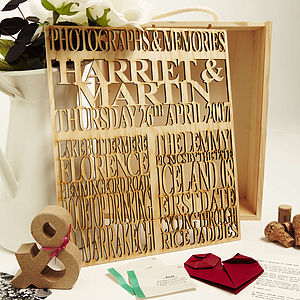 Personalised Couples Keepsake Box - albums & keepsakes