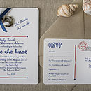 Nautical DIY Wedding Invitation Pack