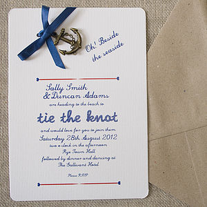 Nautical DIY Wedding Invitation Pack - wedding stationery