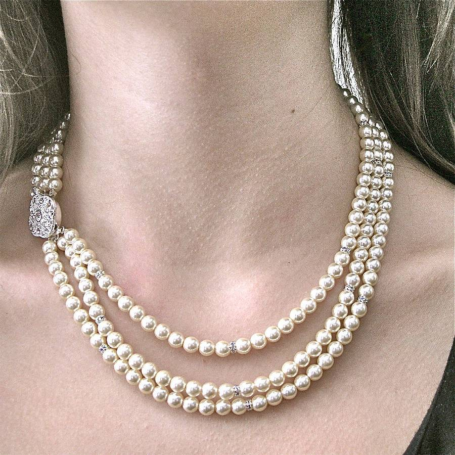gold box clasp item filgree pearls graduated cultured full original velvet choker