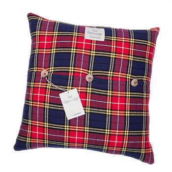 Grenadine Checked Cushion Cover