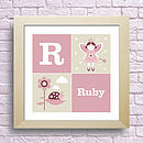 Personalised Fairy And Ladybird Kids Art