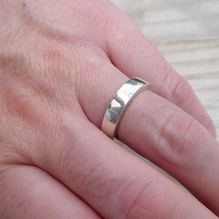 mens chunky silver ring by lilia nash jewellery | notonthehighstreet.com