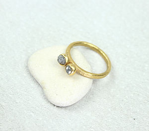 Rough Diamond Ring, Engagement Ring - rings