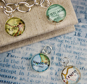 Map Personalised Location Charm - bracelets & bangles