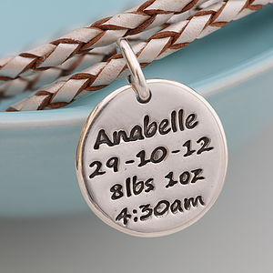 Personalised Birth Celebration Charm - christening jewellery