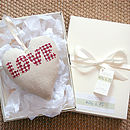 personalised cream wedding heart, gift boxed