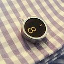 Infinity Eight Typewriter Key Cufflinks