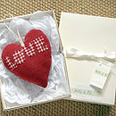 personalised LOVE heart red, gift boxed