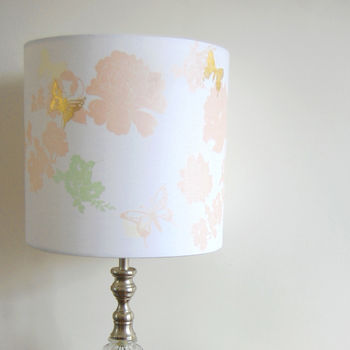 Pretty Flower Lampshade, Vintage Pink