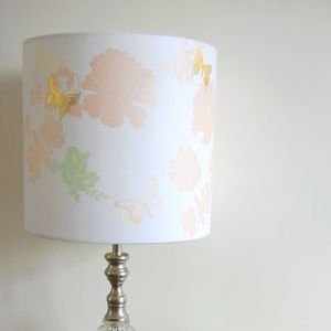 Floral Print Lampshade - lighting