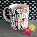 Personalised Delux Mr & Mrs Mugs
