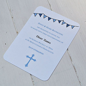 Personalised Christening Boys Invitations - shop by price