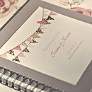 'Bunting' Personalised Wedding Guest Book