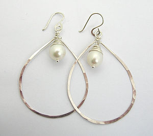 AA Pearl Chandelier Earrings - simple shapes