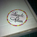 Bride And Groom's Names Stickers 60 For £55