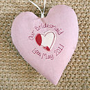 personalised bridesmaid heart, pink